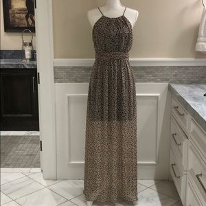 BCBGeneration leopard maxi dress